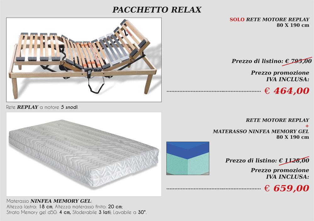 Pacchetto Relax Riflex – Promozioni rete + materasso