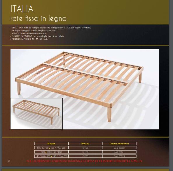 RETI A DOGHE FAGGIO ITALIANO STAGIONATO 2 ANNI