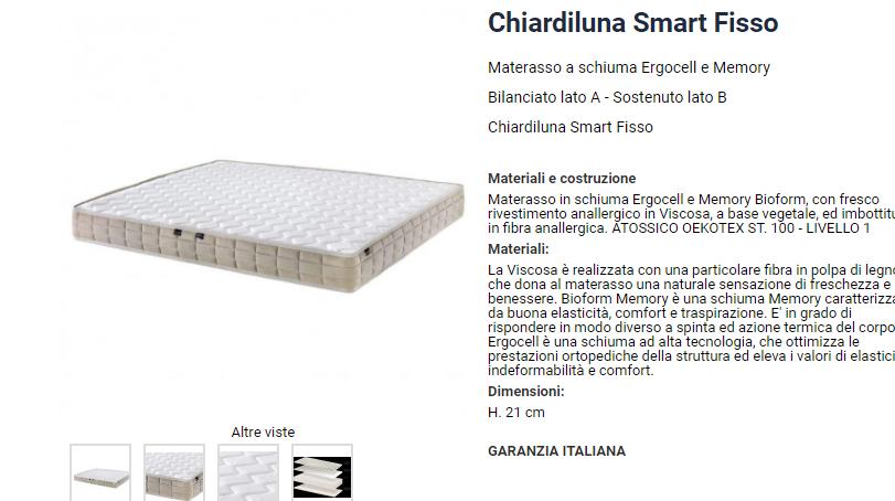 Materasso Chiardiluna Smart in offerta a 490.00€